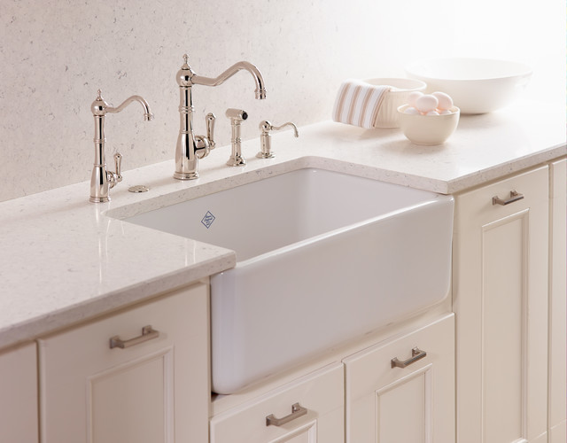 Rohl Farmhouse Sink : ... Apron Front Single Bowl Fireclay Kitchen Sink modern-kitchen-sinks