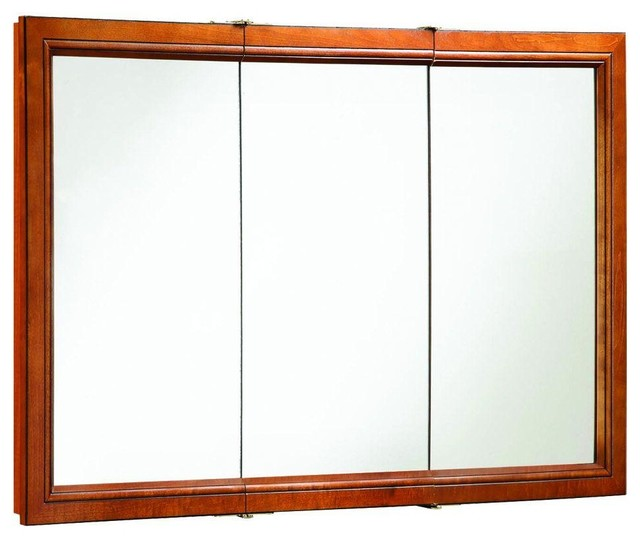 Design House Cabinets Montclair 48 in. x 30 in. Surface-Mount Tri-View Medicine - Contemporary ...
