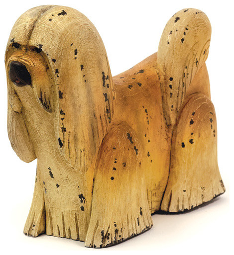 Wooden shaggy dog modern decorative objects and for Modern decorative objects