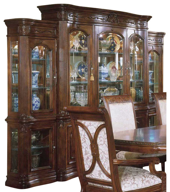 AICO Villagio China Cabinet - Traditional - Kitchen Cabinetry - by ...