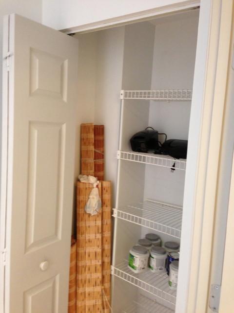 Closet Designs Linen Closet Before Contemporary