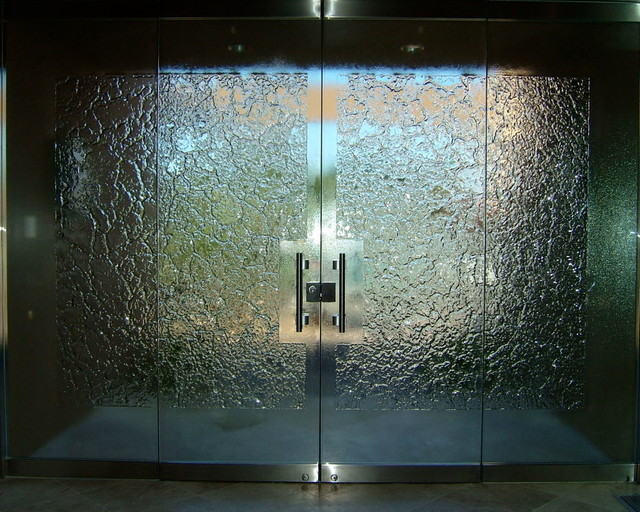 All glass frameless doors frosted designs products for All glass front door