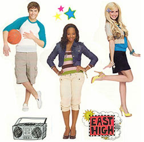 High School Musical Wall Stickers HSM - Girls Wall Decals modern ...
