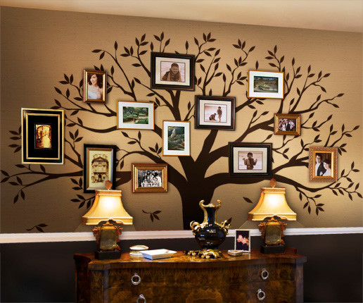 family tree wall decal traditional wall decals other. Black Bedroom Furniture Sets. Home Design Ideas