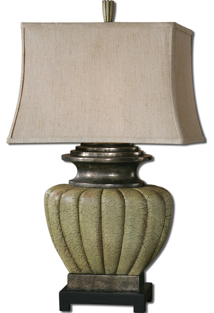 Tufillo Pale Green Lamp traditional-table-lamps