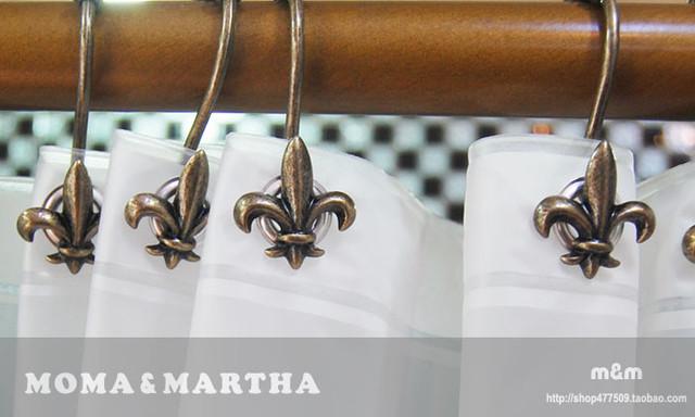 Quot Fleur De Lis Quot Shower Curtain Hooks Traditional By