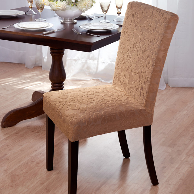 Velvet Damask Stretch Dining Chair Slipcovers  : contemporary dining chairs from houzz.com size 640 x 640 jpeg 110kB