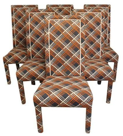 Navy & Rust Parsons Dining Chairs Set of 6 Modern