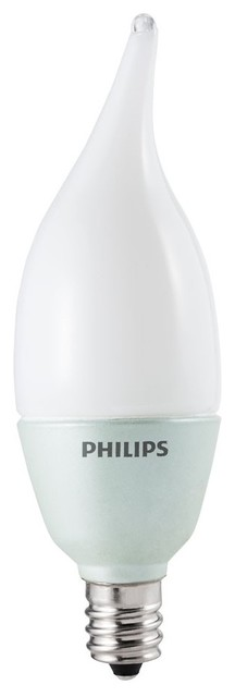 Philips AccentLED (TM) 15W Replacement Candle with Bent Tip LED Light Bulb led-bulbs