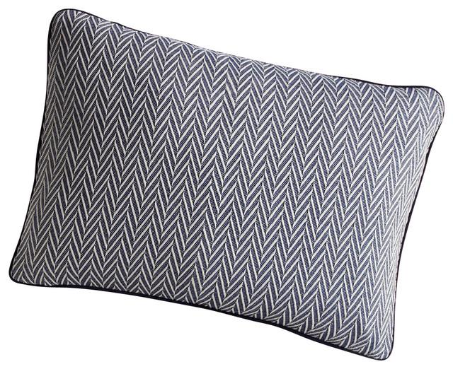 Veneto Decorative Pillow, Navy - Traditional - Decorative Pillows - by Peacock Alley Design Studio