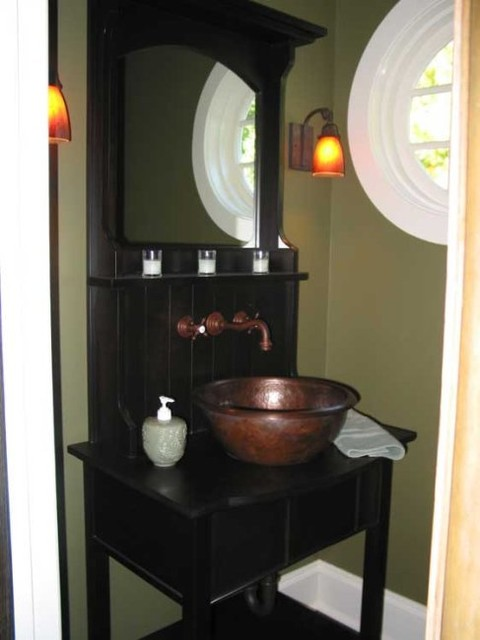 Becker Architects traditional-powder-room