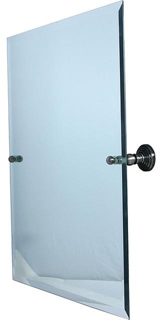 Large Rectangular Tilt Frameless Bathroom Mirror with Beveled Edge contemporary-bathroom-mirrors