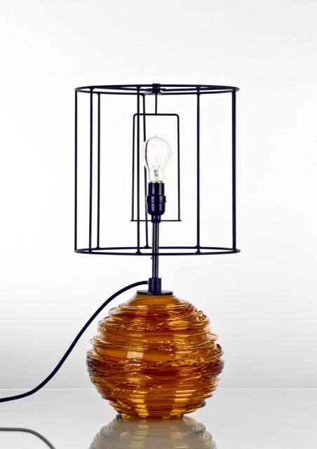 spun table lamp contemporary-lighting