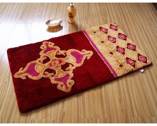 Luxury Spun Gold Flower Door Mat -