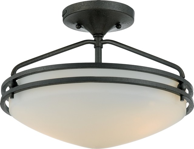 Quoizel OZ1713IN Ozark Modern Contemporary Semi Flush Mount Ceiling Light C