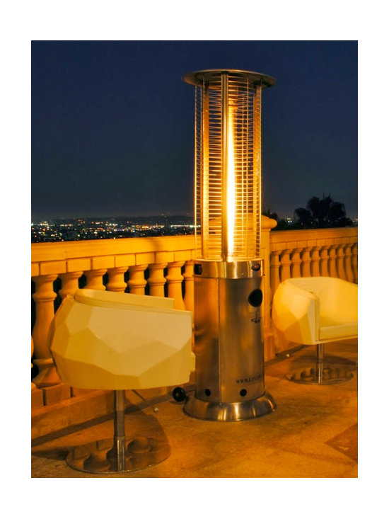 Lava Heat Opus G7 Natural Gas Flame Patio Heater - For a stunning heating element in your favorite outdoor entertaining area, look no further than the Lava Heat Opus G7 Natural Gas Flame Patio Heater. -Mantels Direct