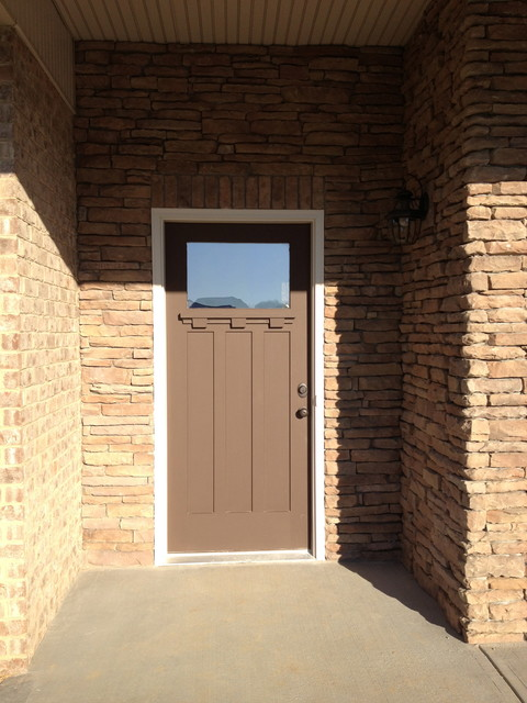 Craftsman Styled Custom in Alcoa TN traditional-front-doors