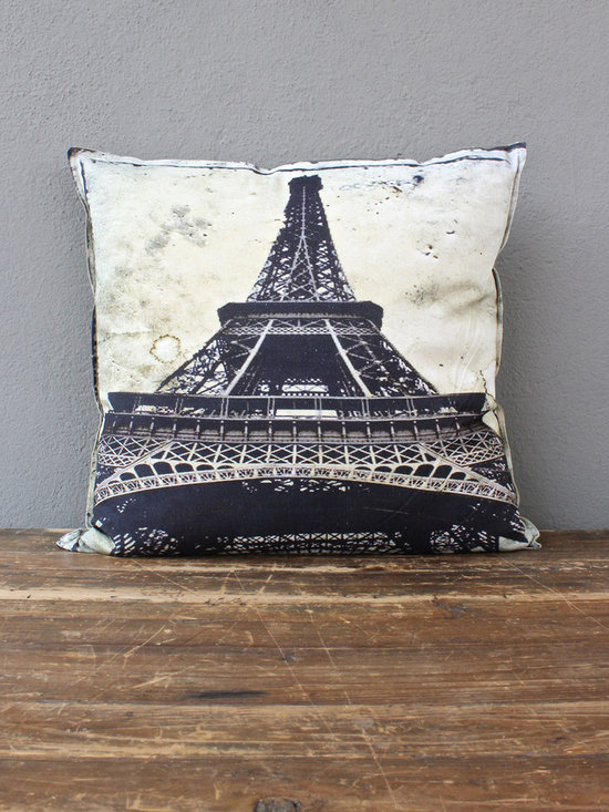 eiffel tower pillow - view this item on our website for more information + purchasing availability: http://redinfred.com/shop/category/detail/throw-pillows/eiffel-tower-pillow/
