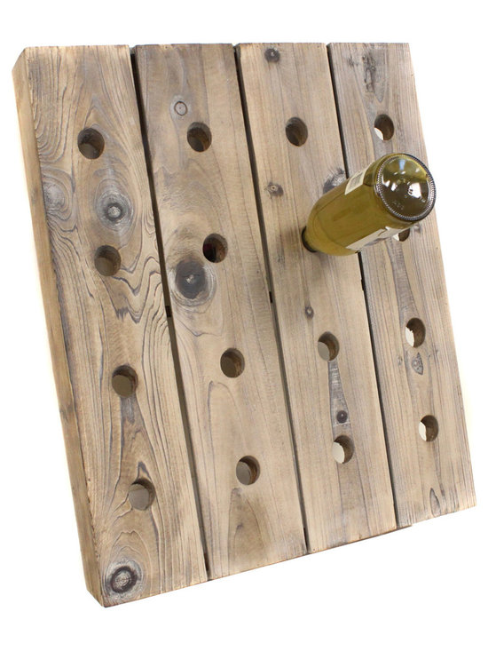 ecWorld - French Style Single Frame Wine Bottle Riddling Rack - 16-Bottle Holder - Mixing rustic wood and contemporary design, this French Style Wine Bottle Rack brings a new meaning to the art of entertaining. Designed for unparalleled functionality and artful display, this piece is sure to uplift any room decor.