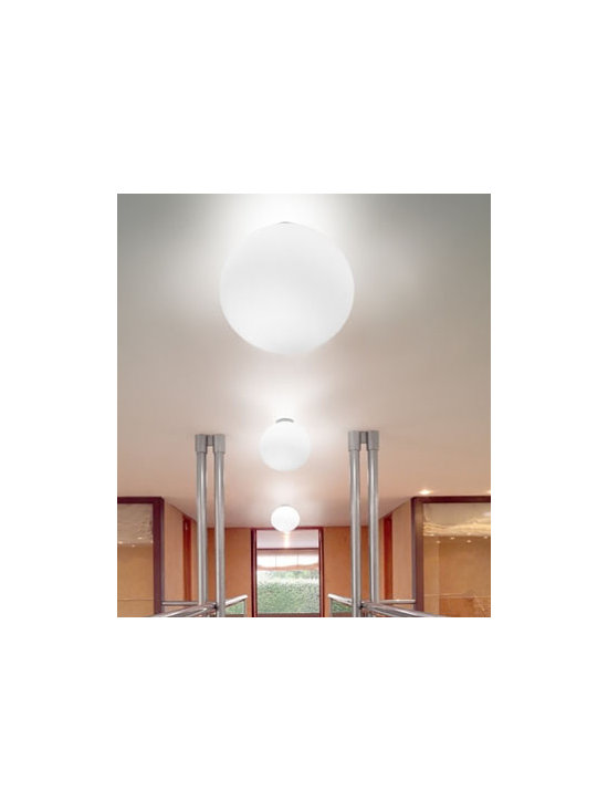 Sphera P Pendant Lamp By Leucos Lighting - Sphera P from Leucos is a series of wall and ceiling lights finished in satin white blown glass.