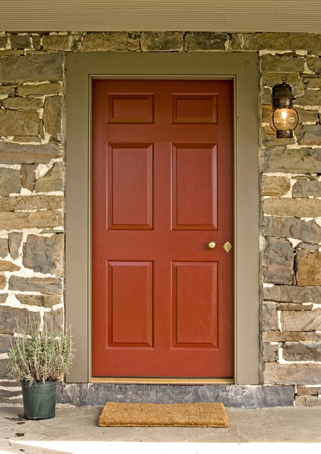 Exterior Paneled Door Traditional Front Doors