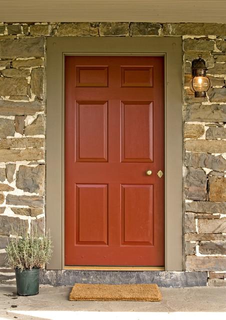 Exterior Paneled Door Traditional Front Doors
