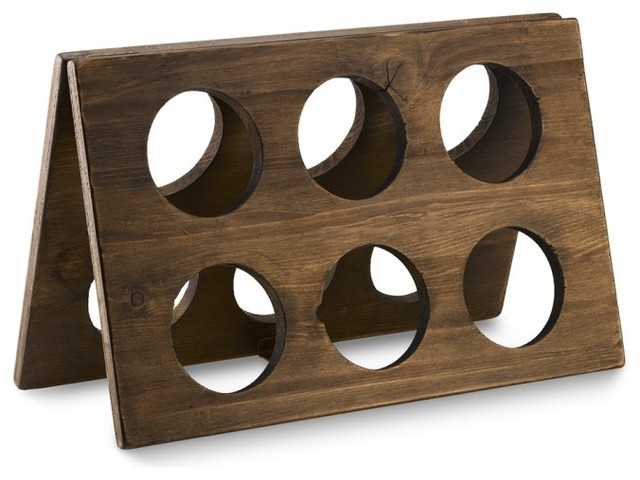 wooden rack for wine