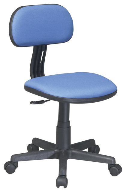Task Office Chair in Blue Finish traditional-office-chairs