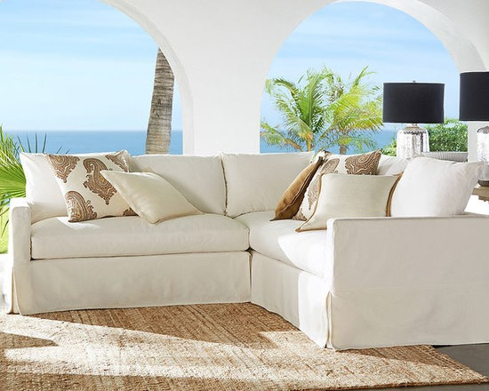 CATALINA SLIPCOVERED 2-PIECE L-SHAPED SECTIONAL - The convenience of slipcovers offers everyday pleasure with our Catalina Collection. The 2-piece sectional is naturally suited to interactive family rooms that are also great social spaces.