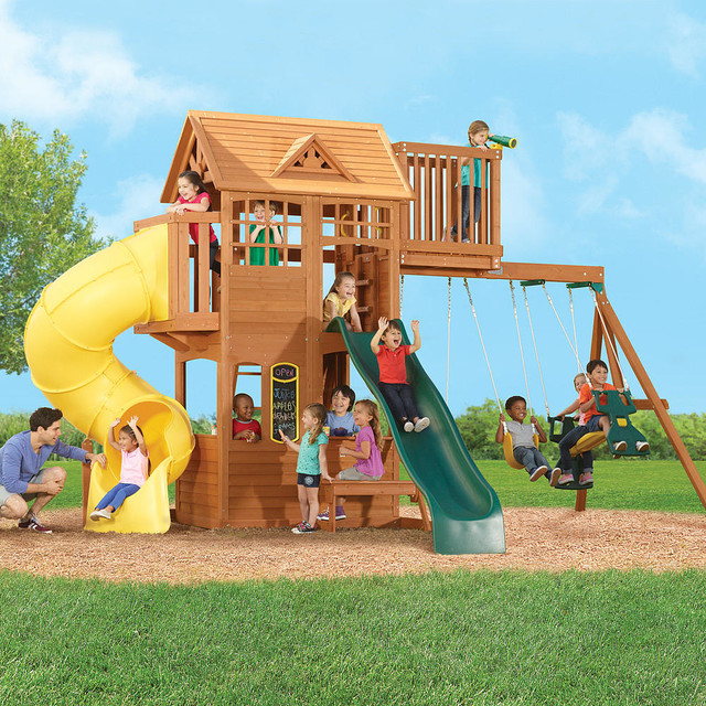 All Products  Outdoor  Backyard Play  Kids Playsets & Swing Sets
