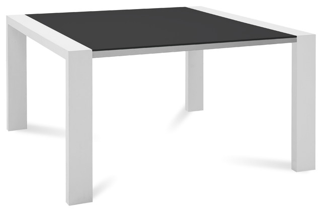 Dining table square white gloss dining table