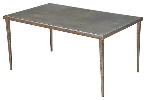 Dimpled Metal Coffee Table Contemporary Coffee Tables By Sarreid Ltd