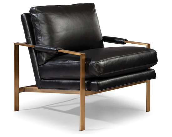 Milo Baughman 951 Lounge Chair with Bronze finish from Thayer Coggin - Thayer Coggin, Inc.