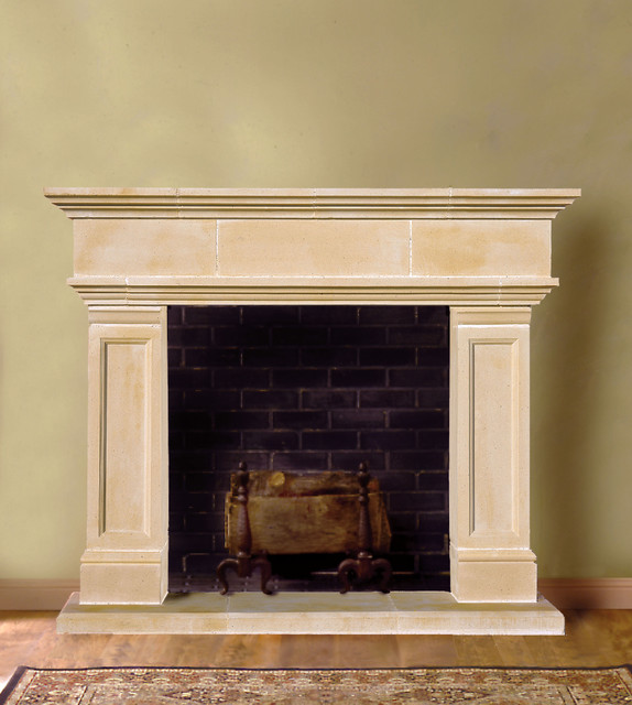 hampton cast stone fireplace mantel traditional indoor