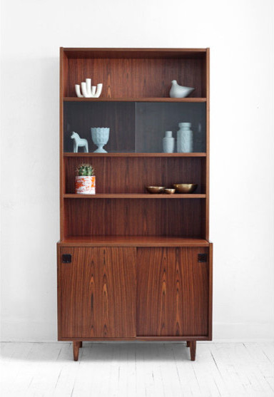 Midcentury Danish Rosewood Wall Unit Credenza Hutch by Hindsvik modern bookcases cabinets and computer armoires