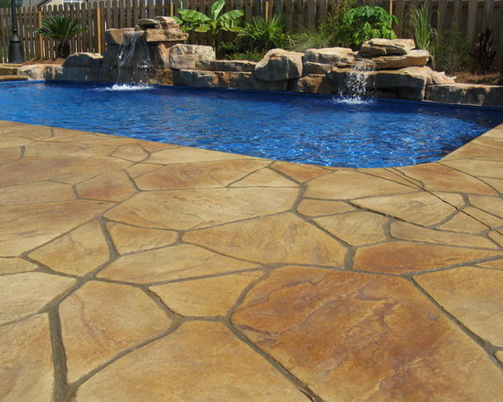Multi Color Flagstone with Custom Waterfalls -