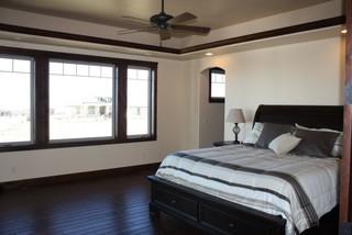 lovely dark trim modern bedroom denver by schroetlin custom