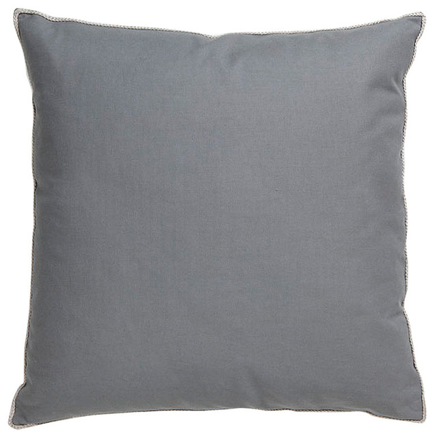 Villa Home Basic Elements Dark Grey Throw Pillow - Contemporary - Decorative Pillows - by purehome