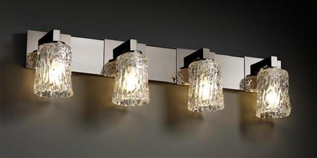 Justice Design GLA-8924-16-CLRT-BLKN Modular 4-Light Bath Bar Veneto Luce Collec bathroom-vanity-lighting