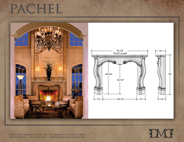 Pachel stone fireplace mantel french traditional indoor for French country stone fireplace