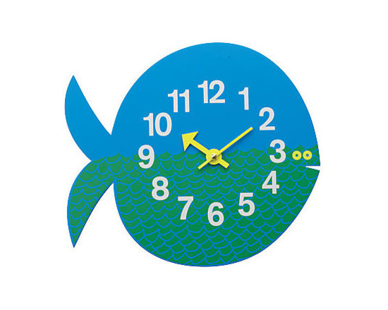 Fernando the Fish Wall Clock - This is the cutest clock! I love the block numbers and small fish eye detail.