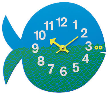 Fernando the Fish Wall Clock tropical-wall-clocks