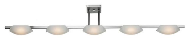 Five Light Chrome Island Light modern-bathroom-vanity-lighting