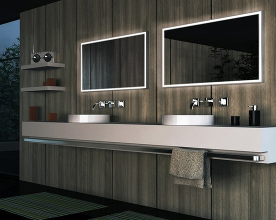 Cronos Design - Mirrors with LED Lighting - Project completed by Interior Design Concepts. LED Mirrors by Cronos Design