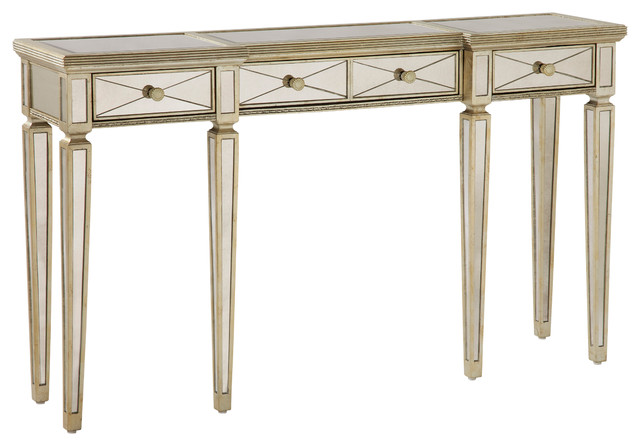Bassett Mirror Borghese Mirrored Console Table with Drawers 8311-472EC ...