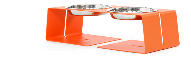 1-Cup Dogleg Diner, Small contemporary-pet-bowls-and-feeding