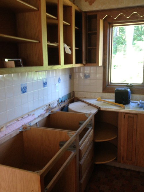 Painted Kitchen Cabinets, Kitchen Makeover on a Budget