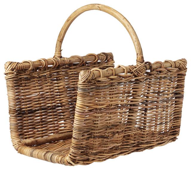 Rectangular Log Basket - Traditional - Firewood Racks - by TOAST