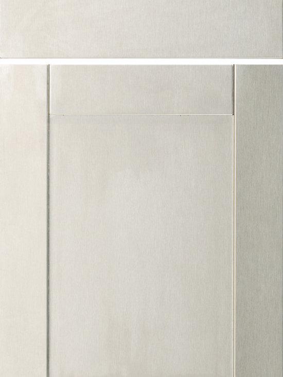 """Dura Supreme Cabinetry - Dura Supreme Cabinetry Stainless Steel Panel Metal Cabinet Door Style - Dura Supreme Cabinetry """"Stainless Steel Panel"""" metal cabinet door style in Stainless Steel."""