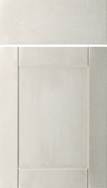 Dura Supreme Cabinetry Stainless Steel Panel Metal Cabinet Door Style - Contemporary - Kitchen ...